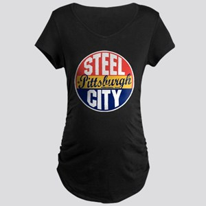 Pittsburgh Vintage Label B Maternity Dark T-Shirt