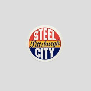 Pittsburgh Vintage Label B Mini Button