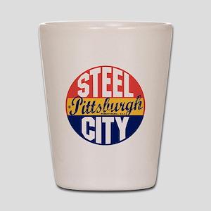 Pittsburgh Vintage Label B Shot Glass