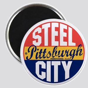 Pittsburgh Vintage Label B Magnet