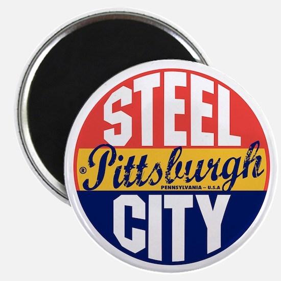 Pittsburgh Vintage Label B Magnet