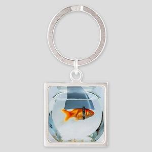 Fish Square Keychain