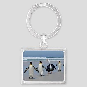 Penguins Landscape Keychain