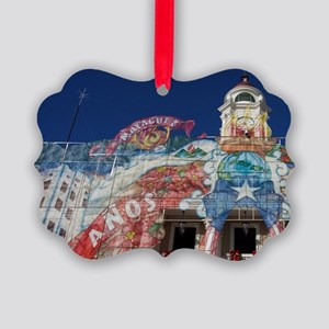 Teatro Yaguez theater with Christ Picture Ornament