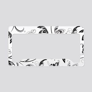 bw butterfly floral clutch ba License Plate Holder