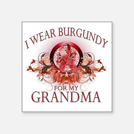 "I Wear Burgundy for my Gran Square Sticker 3"" x 3"""