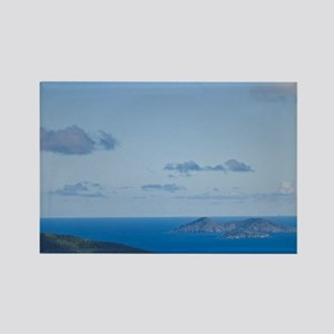 A scenic view of Hull Bay from Mo Rectangle Magnet