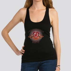 I Wear Burgundy for my Aunt (fl Racerback Tank Top