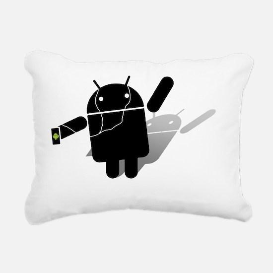 android ipod Rectangular Canvas Pillow