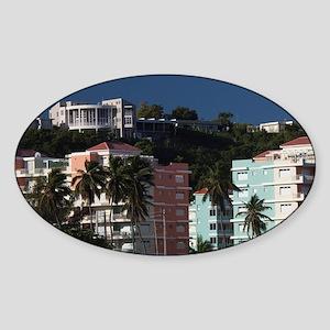Beachfront condosh Coast, Isabela,  Sticker (Oval)