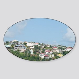 St. Vincent and the Grenadines. Kin Sticker (Oval)