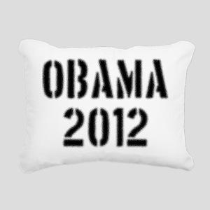 2000x2000obama2012stenci Rectangular Canvas Pillow