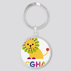 Meghan-the-lion Round Keychain
