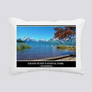 Grand Teton National Par Rectangular Canvas Pillow