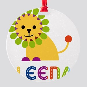 Aleena-the-lion Round Ornament
