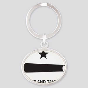COMEANDTAKEITBEACHBAGTEMPLATE Oval Keychain