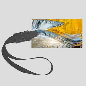 bondFalls_HDR_4X6_postcard Large Luggage Tag