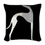 Hound Silhouette Woven Throw Pillow