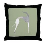 Hound Silhouette Sage Throw Pillow