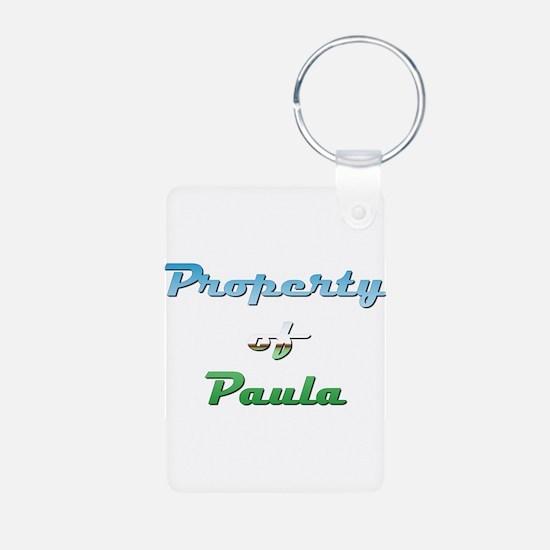 Property Of Paula Female Keychains