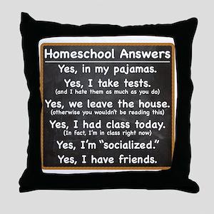 Homeschool Answers Throw Pillow
