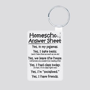 Homeschool Answers Aluminum Photo Keychain