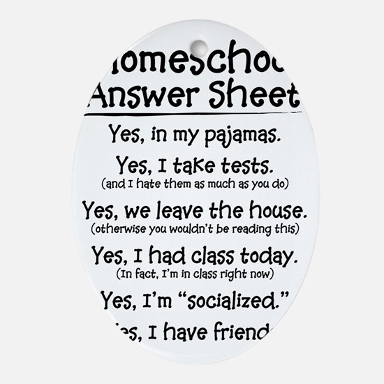 Homeschool Answers Oval Ornament