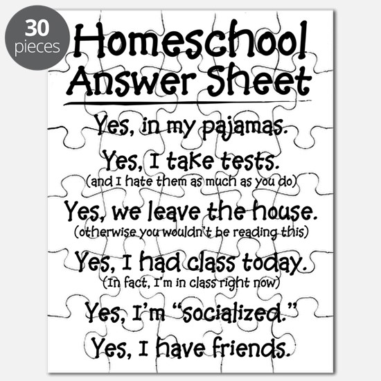Homeschool Answers Puzzle