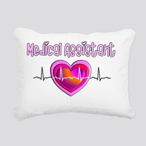 Medical Assistant QRS Rectangular Canvas Pillow