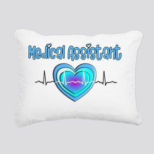 Medical Assistant QRS Bl Rectangular Canvas Pillow