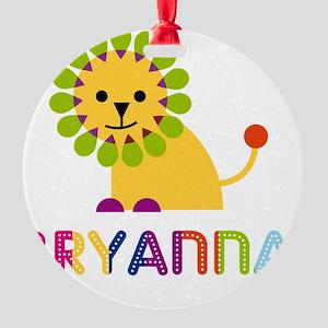Bryanna-the-lion Round Ornament