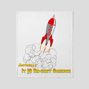 Rocket Science-edited copy Throw Blanket