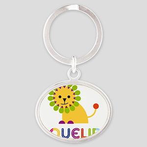 Jaqueline-the-lion Oval Keychain