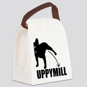 Puppymill_Frenchie_light Canvas Lunch Bag