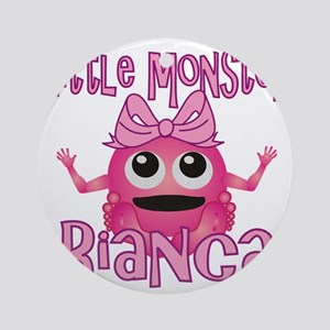 bianca-g-monster Round Ornament