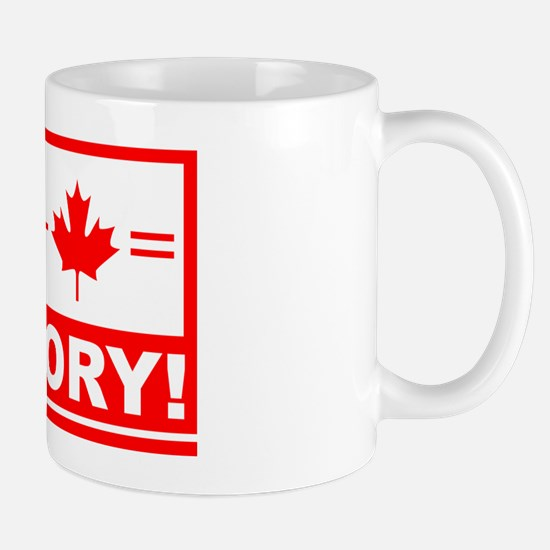 Canada plus hockey equals victory Mug