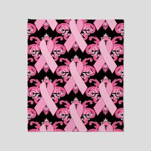 PinkRibHLLLPb460ip Throw Blanket