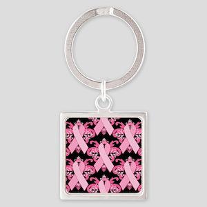 PinkRibHLLLPb460ip Square Keychain