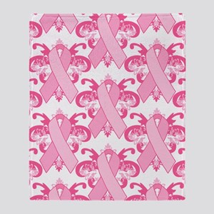 PinkRibHLLLPt460ip Throw Blanket