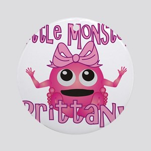 brittany-g-monster Round Ornament