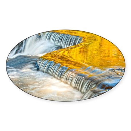 bondFalls_HDR_5X7 Sticker (Oval)