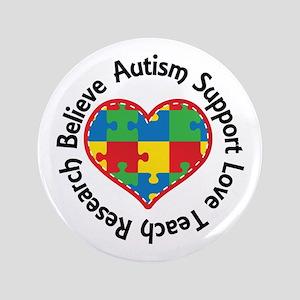 Autism Spectrum Puzzle Heart Button