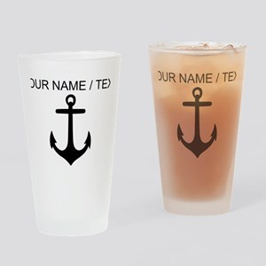 Custom Anchor Drinking Glass