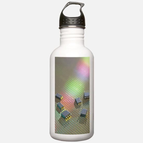 Semiconductor chips on Water Bottle