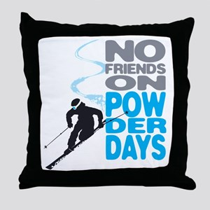 no friends Throw Pillow