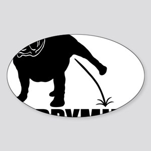Puppymill_Bulldog_light Sticker (Oval)