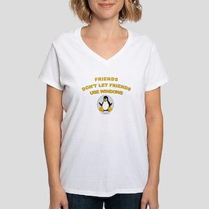 Friends Don't let Friends Women's V-Neck T-Shirt