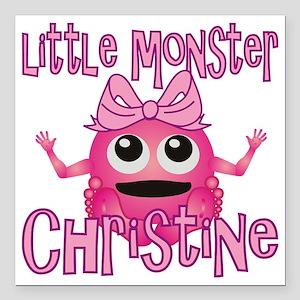 """christine-g-monster Square Car Magnet 3"""" x 3"""""""