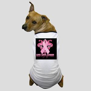 PinkRibHLLLBcap Dog T-Shirt