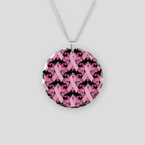 PinkribbonLLLpBsq Necklace Circle Charm